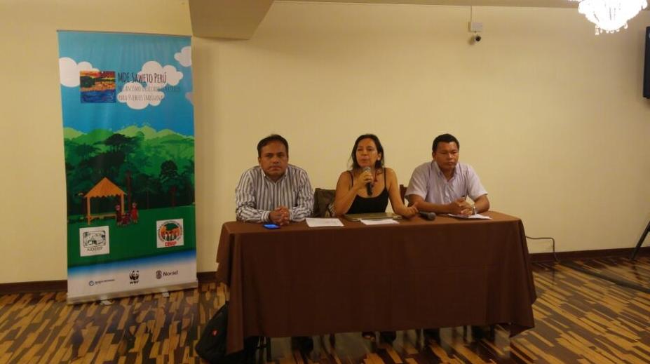 Líderes indígenas de la Amazonía Peruana se reúnen en el primer congreso de ejecutores del Proyecto MDE Saweto